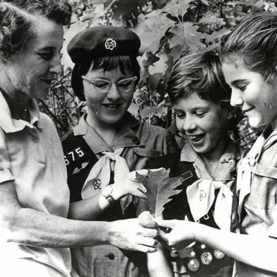 Vintage photo of Girl Scouts
