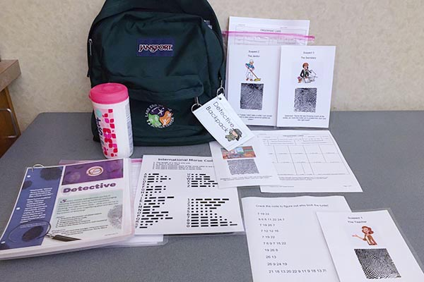Detective Backpack for Junior Girl Scouts