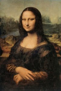 The Mona Lisa is an example of science used in art