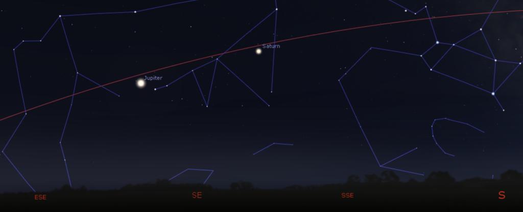 Night sky diagram - September 1, 2021